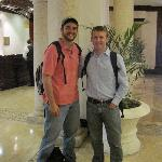 Our guides while in Honduras in the lobby of the Clarion Hotel.