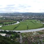 View from the top of Wallace Monument,Stirling,Scotland.