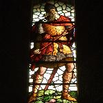 stainglass window of a spearman,Wallace monument,Stirling,Scotland.