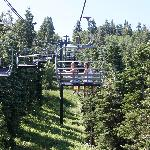 riding the chairlift up, don't miss it!  Great pictures at the top.  Hike around a little.