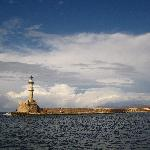 Chania old harbour lighthouse