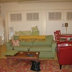 The living room - large, comfortable upholstery