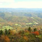 view at the top of Bald Knob