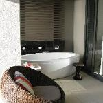 Outside area of room with Cleopatra bath