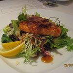Salmon Salad w/Teriyaki Dressing