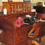 Railroad Desk with other items