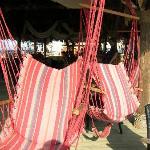 Cool seats at Mylos Beach Bar and Taverna
