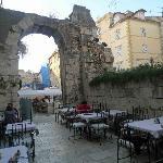 Outdoor Terrace of Restaurant Peristil Hotel