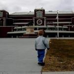 Aspirations. Casey at UND's Englestad arena, Grand Forks, North Dakota