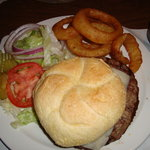 a Burger w/ green chili