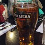 The saving grace...delicious Bulmers on tap.