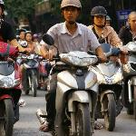 one of the many bikes in Hanoi