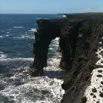 Sea Arch close to lava flow