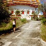 På väg upp till ett tempel nånstans utaför Cha/Am