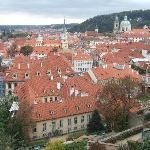 Prague roof tops.