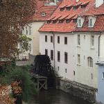 Old Water Mill.  Seen from Charles Bridge.