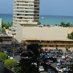 view from our balcony towards Waikiki beach