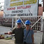 Distillery entrance - hard hats and hair nets required!