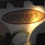 Habanero's Sign at night