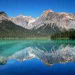 Reflection at Emerald Lake--a short distance from Field