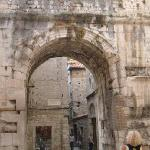 Roman arches and remains abound in the palace