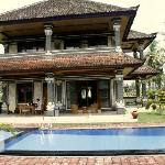 Villa from a pool side