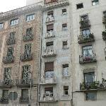 The middle building is where we stayed - La Casa De Les Lletres