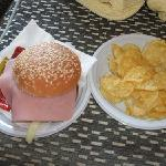 This is what we got when we ordered a hamburger and chips..very amusing!lol