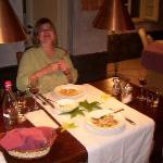 Main course dinner in the villa