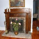 Suite bedroom fireplace