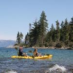 People kayaking on Emerald Bay