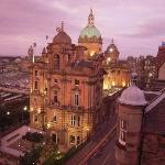 View from right window of old Bank of Scotland Headquarters