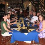 our group at the restaurant