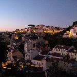 View from room 403. Right the illuminated Miradouro da Graça.