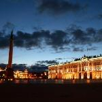 """The Alexander Column stands in the middle of the Palace Square.  """"The Alexander Column was des"""