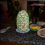 Water melon display in restaurant
