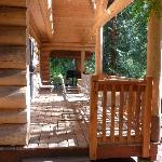 The deck outside the chalet