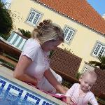 playing near the pool