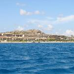 View of hotel from sea