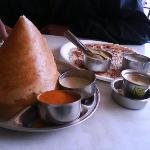 dosas and uttapas and rasamsa nd sambhars