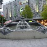 Cool fountain that repersents the 4 rivers that meet in Hagen