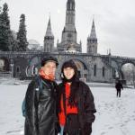 Me & Nene @ the fore ground of Basilica of Our Lady of Lourdes.