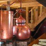 Vintage distilling equipment