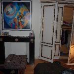 Spacious closet area
