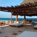 Upper terrace - massage & sun tanning area