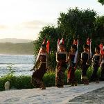 Traditional Sumba Dance at sunset