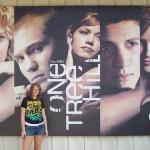 Dayna With The Cast Poster At The Studio Before The Tour Of The Studio