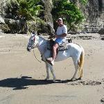 horsebackriding on the beach at Tango Mar