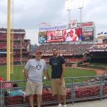 great american ballpark with my son