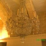 chandelier her late husband used to make them (he made this one)